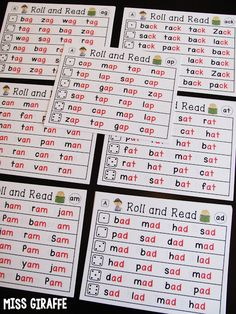 Roll and Read literacy center for EVERY SHORT VOWEL WORD FAMILY. So much reading…