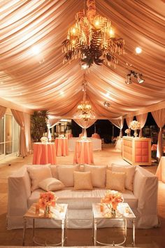 Draping, Love Seat, Paris Accent Tables by Revelry Event Designers #revelryeventdesign