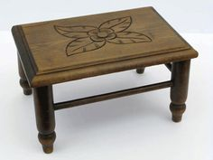 Wooden Footstool French Handmade 1930s by LittleFrenchOwl on Etsy, €45.00