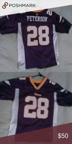 a39762160 Nfl jersey 100% authentic vintage Adrian Peterson jersey worn once Reebok  Shirts Tees - Short
