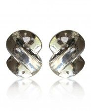 "Patricia Von Musulin ""S"" Lucite Clip Earrings"