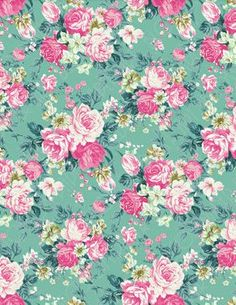"""""""Pink~Roses on a Teal~Background how pretty""""..."""