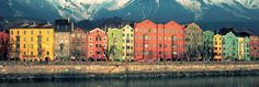 A great pic of some of the fantastic Riverside Buildings in Innsbruck