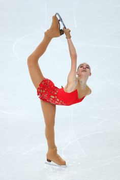 Adelina Sotnikova of Russia competes in the Figure Skating Ladies' Short Program (c) Getty Images