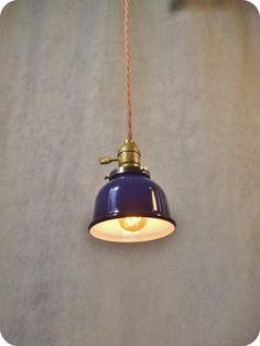Vintage Industrial Steel Pendant Light - Machine Age Minimalist Bare Bulb Hanging Lamp, Steel Cup Shade
