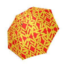Red Floating Diamonds Foldable Umbrella