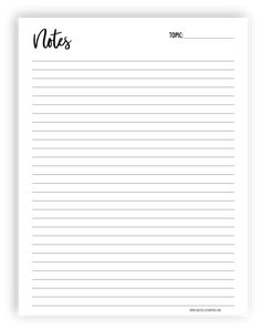 Michelle Simpkin Co. Free Printable Stationery, Printable Paper, Free Printables, Diy Note Pad, Free Planner Pages, Good Notes, Notes Free, School Study Tips, Notes Template