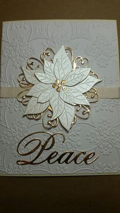 Best 9 Poppy Stamp Blooming Poinsettia Die Memory Box Quinn Flourish Die Card embossed with Cuttlebug Anna Griffin Foulard folder – SkillOfKing. Poinsettia Cards, Christmas Poinsettia, Christmas Paper, Handmade Christmas, Christmas Crafts, Christmas Angels, Crochet Christmas, Christmas Movies, Christmas Cards 2018