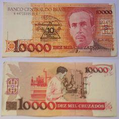 cédula nota 10.000 dez mil cruzados - carlos chagas - fe