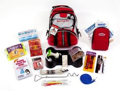 "72 Hour Dog Survival Kit-FAMILY STOREHOUSE- This Dog Survival Kit is packaged in our red Backpack with the words ""Survival Kit"" on it and has been designed to provide your pet with all of the necessary items to survive if you are ever forced to evacuate.  By owning this survival kit, you will have peace of mind knowing that your dog will be safe and comfortable in any type of disaster. Survival Supplies, Survival Tips, Survival Skills, Survival Food, Camping Survival, Survival Store, Pet Supplies, Homestead Survival, Emergency Kits"