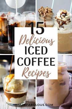With so many delicious iced coffee recipes, I decided to round up the best, from sous vide iced coffee to iced coffee protein shakes that'll make you drool. Get your coffee on this summer! Thai Iced Coffee, Best Iced Coffee, Iced Coffee At Home, Vietnamese Iced Coffee, Blended Coffee, Turkish Coffee, Coffee Art, Happy Coffee, Starbucks Coffee