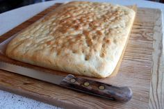 Freshly baked Rosemary Focaccia right out of the oven.