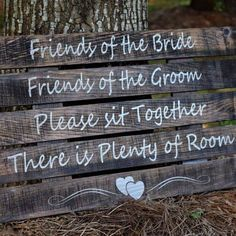 Wedding Ceremony Sign - Rustic Wedding - Pick A Seat Not A Side - Please Sit Together Wedding Ceremony Signs, Rustic Wedding Signs, Wedding Signage, Wedding Ceremonies, Wedding Bells, Wedding 2017, Fall Wedding, Our Wedding, Dream Wedding