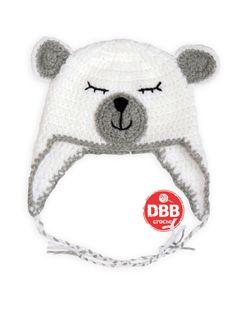Gorros hechos a crochettodas las tallaslana de la mejor calidadtallasde 0-3 meses= 35 cm. diametro aprox.de 3-6 meses= 43 cm. diametro aprox.de 6-12 m