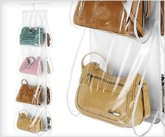 Most transparent and neat way to store #purse and #handbags - easy visibility and quick reach - amazing!