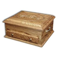 "Amish Jewelry Chest Deluxe,Oak Rose lid - 18""x15.25""x8.25"" A gorgeous piece to set on top of a dresser"