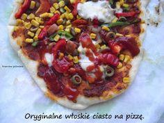 Rozpustne gotowanie: Oryginalne włoskie ciasto na pizzę. Bento, Vegetable Pizza, Food And Drink, Meals, Vegetables, Cooking, Polish Recipes, Thermomix, Kitchen