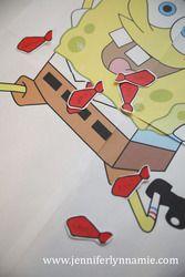 Pin the Tie of Spongebob game @Christie Moffatt Moffatt Moffatt Walker