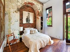 Weathered Walls, Exposed Brick.