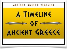 A Timeline of Ancient Greece - Treetop Displays - A set of 10 A4 posters showing…