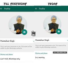 Whatsapp status changed