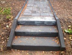 Concrete, Garden Ideas, Stone, Stairways, Garten, Rock, Rocks, Backyard Ideas, Cement