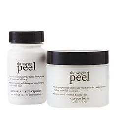 Philosophy The Oxygen Peel  For a quick boost, try this three-minute formula. After one application you will have brighter, more hydrated skin. The little  capsules will do everything from hide sun damage (use weekly) to clear minor breakouts (use nightly for three days).