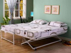 Daybed With Pop Up Trundle Bed Ikea - Bedding : Home Improvement . Pop Up Trundle Bed, Trundle Beds, Home Design, Ikea Bed, Bed Frame, Bed Sheets, Mattress, Modern, Home Improvement