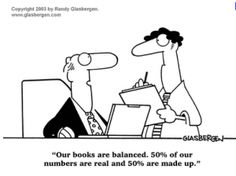 Since I have no formal training in bookkeeping, I'm afraid this is what our accountant thinks when she reviews our books... Haha!