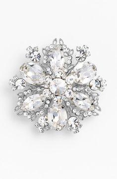 Nina 'Treasure Floral' Crystal Brooch available at #Nordstrom