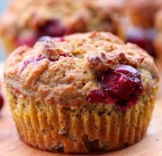 Oven baked cranberry banana muffins.Popular muffins with banana and cranberries baked in convection oven.Delicious!!!!