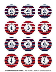 Free Nautical Party Printables from Ian & Lola Designs Nautical Bachelorette, Nautical Party, Nautical Wedding, Baby Shower Marinero, Anchor Baby Showers, Sailor Party, Bottle Cap Images, Party Printables, Baby Boy Shower