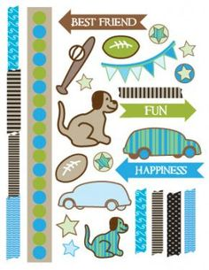 all free scrapbook printable embellishments - Google Search
