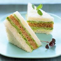 Asparagus Finger Sandwiches - pretty but, I'd love to sub the asparagus for avocado :)~