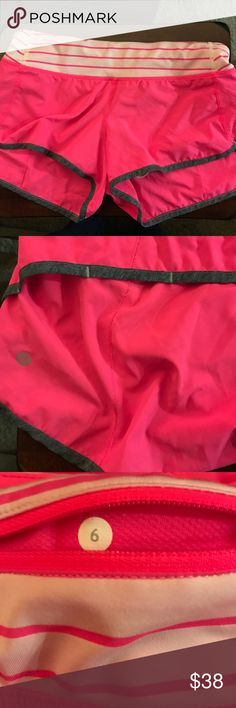 """Lululemon Speed Shorts! Size 6, size dot in back pocket. Excellent condition. Has lining inside, 2.5"""" inseam. 4-Way stretch fabric. Great shorts! lululemon athletica Shorts"""