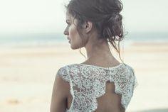 espalda vestido novia chantilly
