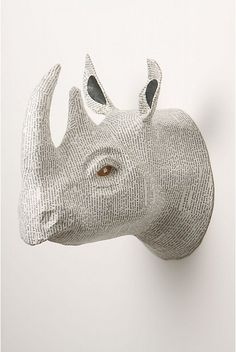 Tutorial to make animal head for home decor....beats the real thing!!!!!