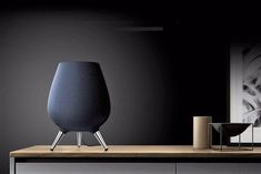 Samsung has announced its entry into the smart speaker market with the Galaxy Home. It's a high-end speaker that's meant to go head-to-head with High End Speakers, Home Speakers, Amazon Echo, Galaxy Homes, Egg Chair, Samsung Galaxy, Tech, Furniture, Home Decor