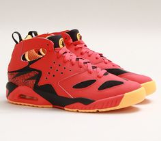 Nike Air Tech Challenge Huarache-Light Crimson-Black-Atomic Mango