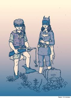 Moonrise Kingdom/Batgirl/Robin mashup by Ramon Villalobos, featured on Best Art Ever (This Week) - 03.08.13