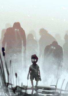 Zombie Kid, Gediminas Skyrius on ArtStation at http://www.artstation.com/artwork/zombie-kid