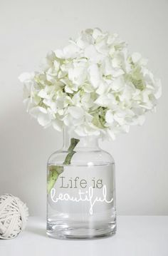 Cute diy! Just add sticker quotes to vases or just write right on the vase your favorite quote.