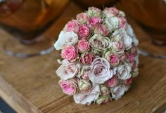 Bridal bouquet of just roses -  mcqueens uk  #pink #bouquet #weddings