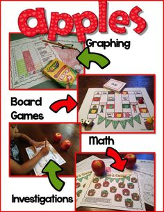 Apples Life Cycle;  This life cycle unit is filled with a PowerPoint slide show, math games, graphing and more; $