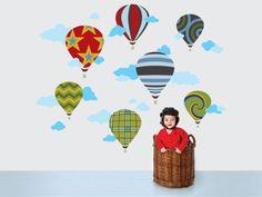 Hot Air Balloons Wall Decals.