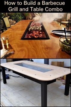 Grill Table, Patio Table, Backyard Patio, Dining Table, Diy Outdoor Table, Outdoor Dining, Barbecue Grill, Grilling, Door Grill