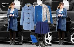 Anastasia Steele's style in Fifty Shades of Grey goes from young girl to young women as she finds herself and becomes more confident throug. Anastasia Steele Style, Anastasia Steele Outfits, Dakota Style, Dakota Johnson Style, Ana Steele, Business Outfits Women, Chic Summer Outfits, Grey Outfit, Fifty Shades Of Grey