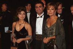 (R-L) Farah Dibah, Prince Reza and his wife Princess Yasmine.