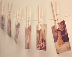 Vintage photos, love this way of displaying them :)