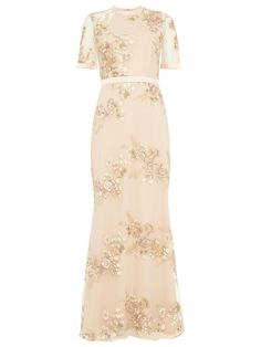 Phase Eight Yasmin Embroidered Dress, Rose Pink at John Lewis & Partners